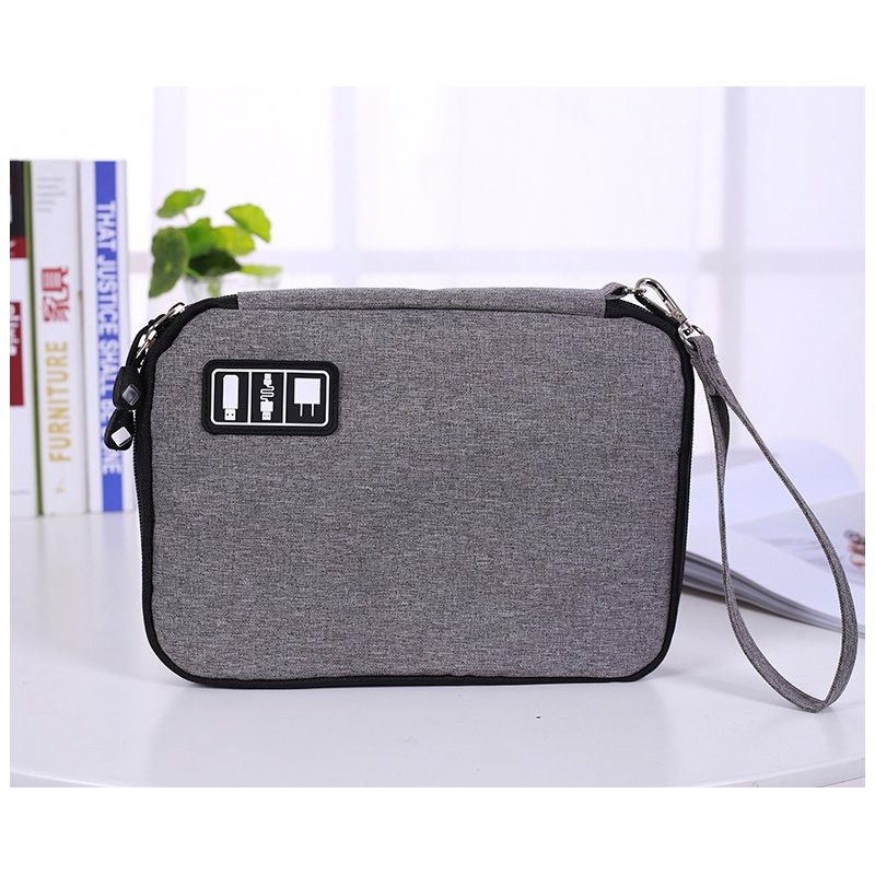Universal Cable Organizer Bag for Travel Houseware Storage Small Electronics Accessories Cases  Small black