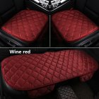 Universal Car Seat Cushion Velvet Silk Seat Cover Set Wine Red