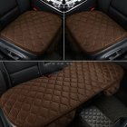Universal Car Seat Cushion Velvet Silk Seat Cover Set Brown