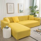 Universal Cloth Sofa Covers for Living Room Elastic Spandex Slipcovers yellow Three persons  190 230cm applicable