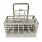 Universal Dishwasher Cutlery Basket Storage Box for Tableware Cutlery Drying Storage Silver