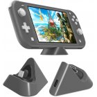 Universal Gaming Machine Portable Triangle Shaped Type C Charging Base for Switch Lite gray