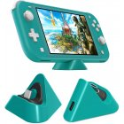 Universal Gaming Machine Portable Triangle Shaped Type-C Charging Base for Switch/Lite Cyan