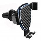 Universal Gravity Car Phone Holder for Phone In Car Air Vent Mount Stand Carbon fiber sapphire blue
