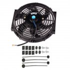 Universal Kit Black 10 inch Slim Fan Push Pull Electric Radiator Cooling Fan 12V
