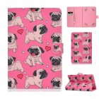 Universal Laptop Protective Case 7Inches Color Painted PU Cover with Front Snap Caring dog