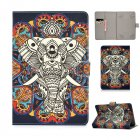 Universal Laptop Protective Cover Color Painted 8 Inches PU Case with Front Snap Fun elephant