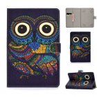 Universal Laptop Protective Cover Color Painted 8 Inches PU Case with Front Snap owl