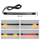 Universal Light Bar 48SMD Lamp Strip Motorcycle Car LED Brake Light Turn Signal Waterproof Motorcycle License Plate Taillight Light Strip Accessories black