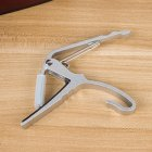 Universal Metal Capo Tune Clamp Trigger for Acoustic / Classical / Folk / Electric Guitar Ukulele Silver