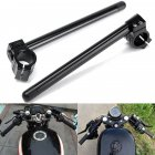 Universal Motorcycle 7 8inch Handlebar Clip On 31 51mm Fork Tube Black For Cafe Racer