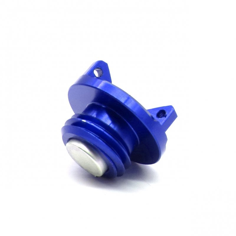 Universal Motorcycle Engine Oil Cap CNC Filler Cover for Kawasaki z800 z1000 ZX-6R blue