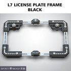 Universal Motorcycle License Plate Holder Number Bracket Frame black