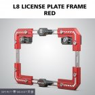 Universal Motorcycle License Plate Holder Number Bracket Frame red