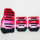 Universal Nonslip Clutch Brake Gas Car Pedal Plate Set for Manual   Automatic Catch Car red Manual