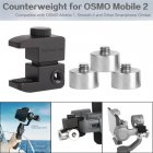 Universal Phone Stabilizer Gimbal Counterweight Counter Weights for OSMO Mobile 2  black