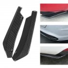 Universal Rear Bumper Lip Angle Splitters Diffuser Decorative Protection Winglets Side Skirt Extensions Carbon fiber color