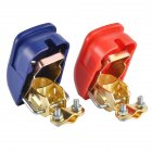 Universal Red+Blue Detachable Car Battery Quick Pull Connector Switch Battery Clip Clamp Terminal Red and blue pair