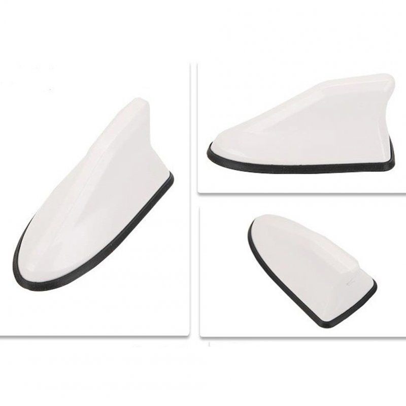 Universal Shark Fin Replacement Signal Receiver Antenna (Punch Free)  white