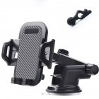 Universal Suction Cup Car Phone Holder Auto Vehicle Dashboard Windshield Stand Bracket Support Black 3-in-one