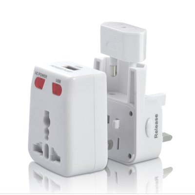 Universal Travel Adapter w/ USB Charging Port