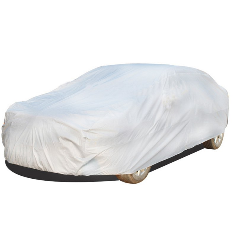 Universal UV Waterproof Full Car Cover Outdoor Auto Sun Protection Covers Silver gray_XXL