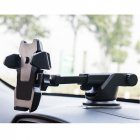 Universal Vehicle Phone Bracket Windshield Dashboard Long Arm Phone Mount Holder GPS Stand with Suction Cup Black