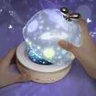 Universe Home Mini Projector Toy Glow in the Dark Stars Moon Sky Projector Baby Sleeping Toy Birthday Music Box Porjector Gift Home Use Transparent