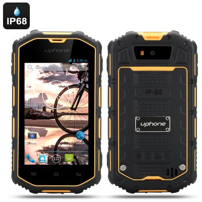 Uphone U5A Waterproof Rugged Phone (Yellow)
