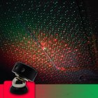 Usb Car Armrest Box Starlight Projector Lamp Decorative Atmosphere Light K1 red and green starry sky  remote control