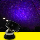 Usb Car Armrest Box Starlight Projector Lamp Decorative Atmosphere Light K1-red and blue starry sky (remote control)