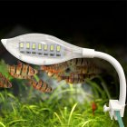 Usb Leaf Shape Light Mini Tortoise Bowl Led Light With Clip White Light All white_usb clip light (white)