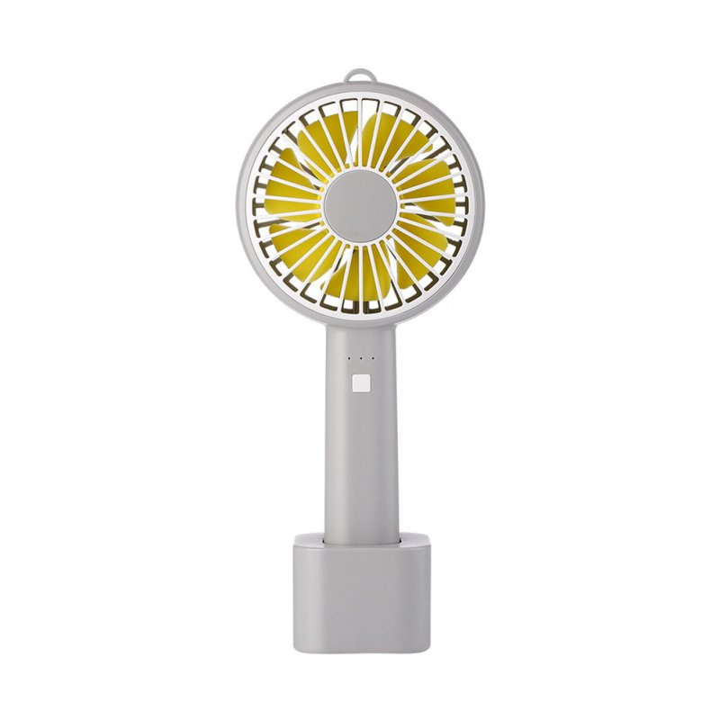 Usb Mini Mute Fans Electric Portable Handheld Household Desktop Electric Fan for Student Office gray