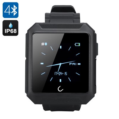 Uterra Bluetooth Smartwatch (Black)