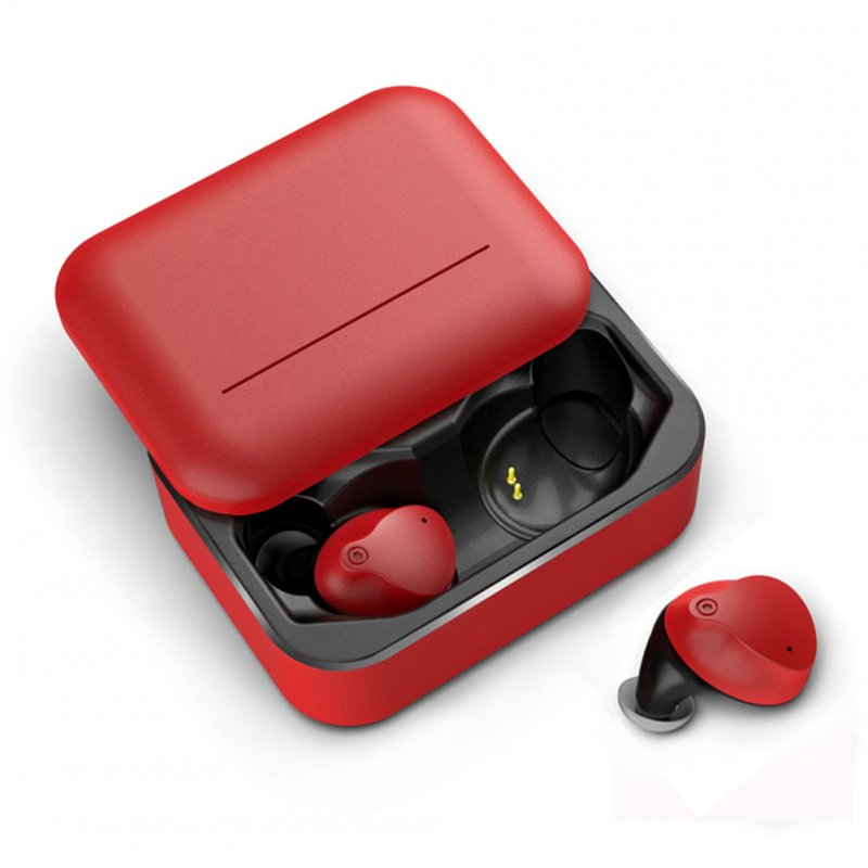 V10 TWS Stereo Bluetooth 5.0 Headset Earphones In-ear Earbuds Wireless Earphone red