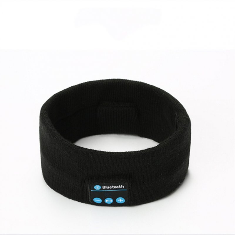 V5.0 Knit Hair Band Bluetooth Ourdoor Running Fitness Sport Music Call Knitting Headwrap black
