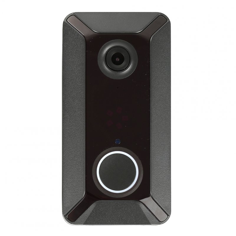 V6 WIFI Doorbell Smart IP Video Intercom Video Door Phone Door Bell Camera for Apartments Alarm Wireless Security Camera black_1 million pixels