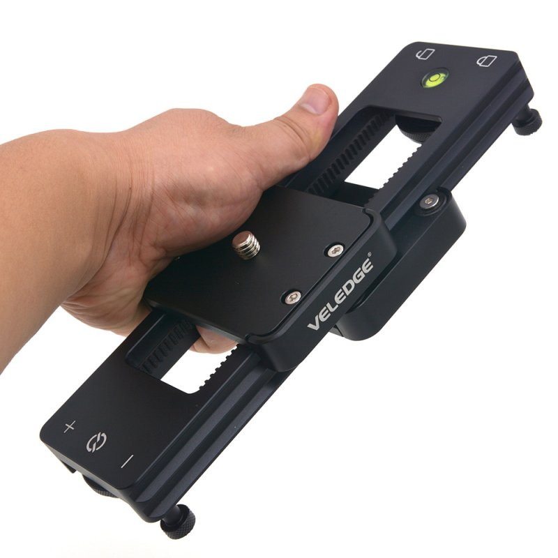 VELEDEG Camera Slider Portable Mini Hydraulic Damping for DSLR Camera Video Vlog Phones Gopro black