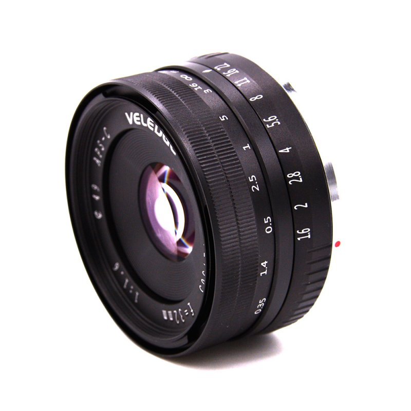 VELEDGE 32MM F1.6 Large Aperture Manual Prime Fixed Lens APS-C for Sony E-Mount Digital Mirrorless Cameras NEX 3 NEX 3N NEX 5 NEX 5T NEX 5R NEX 6 7 A5000, A5100, A6000, A6100,A6300 A6500 black