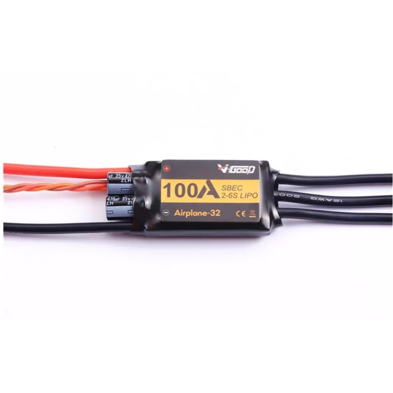 VGOOD 100A 2-6S 32-Bit Brushless ESC With 5A SBEC for Fixed Wing RC Airplane ACP016