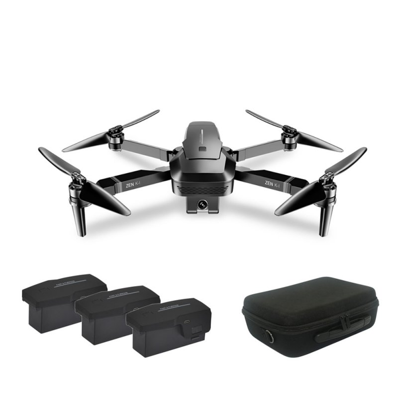 VISUO ZEN K1 Brush-less Dual Camera Optical Flow HD Zoom 4K Drone Folding Aerial Camera Quadcopter with Storage Bag 3 battery