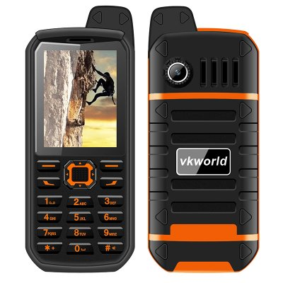 VK World Stone V3 Plus Cell Phone (Orange)