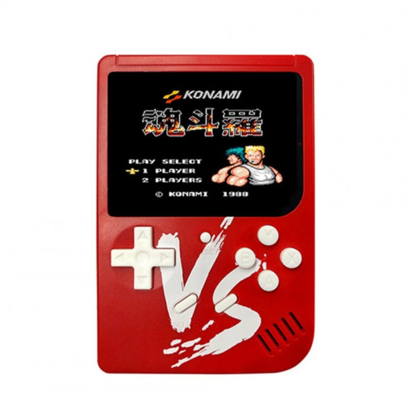 VS Vintage Classic Mini Palm Game Machine Built-in 500 Classic Games with Gamepad red