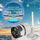 VSTARCAM C63S Outdoor Waterproof Panoramic HD 1080P Wireless WIFI Network Audio Camera  UK plug