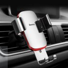 Vehicle Mount Air Outlet Phone Auto-locked Gravity Universal Phone Stand Mount Silver