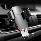 Vehicle Mount Air Outlet Phone Auto-locked Gravity Universal Phone Stand Mount Space gray