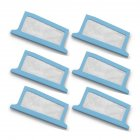 Ventilator Ultra Fine Filter Cotton Professional Ventilator Filters Replacement Breathing Device 6 pieces of light blue cotton
