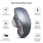 Vertical Computer Mouse Ergonomic Design 2.4g Wireless Mouse T32 Silver gray