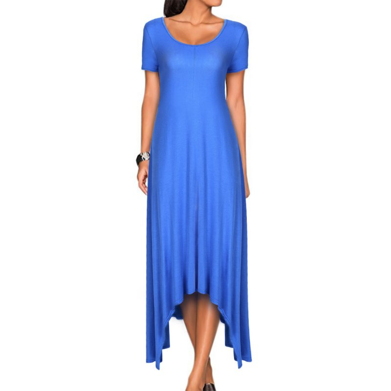 VeryAnn Women Short Sleeve Long Maxi Dress