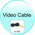 Video Cable for CVQW CS42 Rearview Camera  Waterproof  EU License Plate